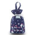 Blue Cartoon Pattern Christmas non-woven Handle gift bags