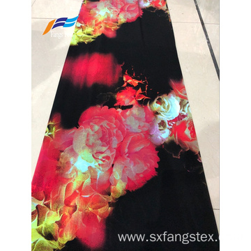 Knit Printed Polyester Spandex Fleece DTY Fabric