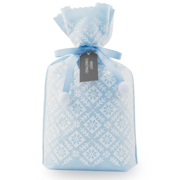 Light Blue Christmas Snowflake Gift Bags