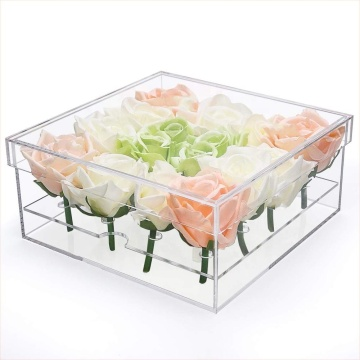 Acrylic Rose Flower Gift Box 16 Slots