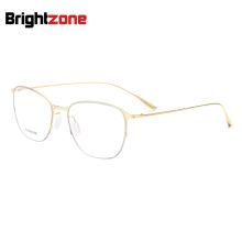 4 Colors Fashion Semi-rimless Titanium Sheet Glasses Frame Men Miopia Gafas Denmark Oculos De Grau Redondo Herren Brillenfassung