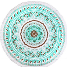 custom made round beach towels with tassel