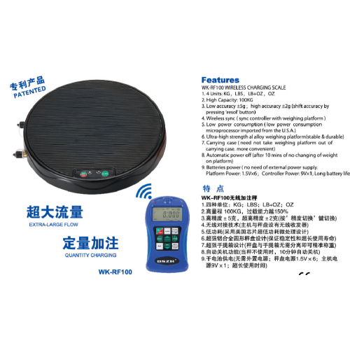 Wireless refrigerant gas charging scale