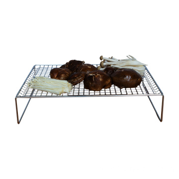 Fashionable  3-layer stackable cooling rack stainless steel grid wire cake rack for pie biscuit pizza cooling rack