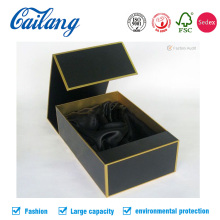 Black Luxury USB Book Shape Box with Foam