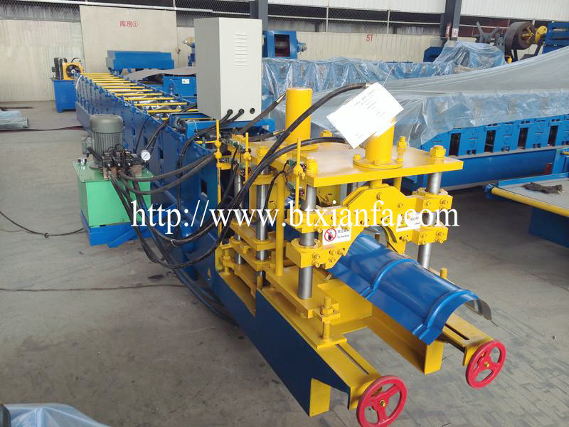 Roof Glazed Tile Ridge Cap Roll Forming Machie