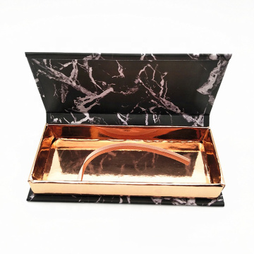 Black Marble Eyelash Extension Case Wholesale