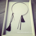 long tassel necklace Imitation suede fabric fringes Necklace