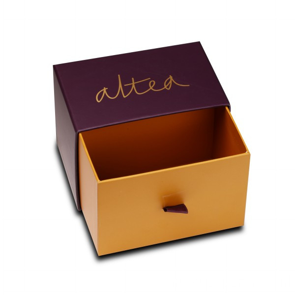 Custom Sliding Drawer Candle Packaging Box with Ribbon