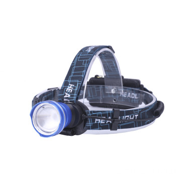 Aluminum Super Bright Headlamp Zoom Headlight Flashlight