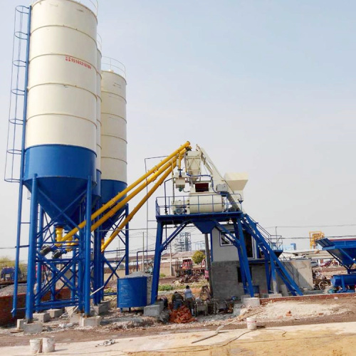 HZS75 fully automatic concrete mixing plant price