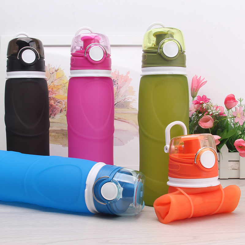 Silicone foldable water bottles
