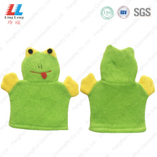 Animal Frog children smooth bath gloves