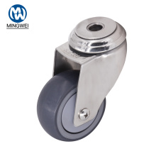 Bolt Hole 3 Inch Swivel TPR Caster