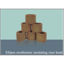 Insulating riser head in ellipse exothermic