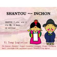 Shantou Sea Freight to Inchon