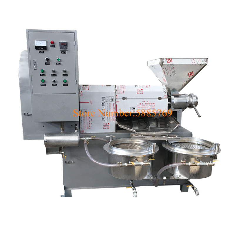 Commercial Use Sunflower Coconut Soybean Oil Press Machine/Oil Expeller With Vacuum Oil Filters