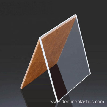 Glossy hard solid polycarbonate sheet wear resistance