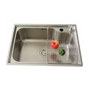 Stainless steel sink in the kitchen