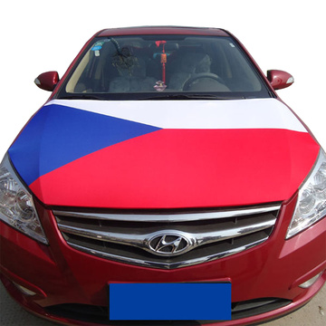 Czech Republic Spandex Knitted polyester Fabric Car Engine Hood cover flag