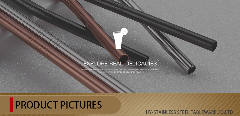 18-10 Simple Stainless Steel Straw Spoon