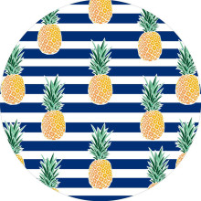 Thick Fruit Round Beach Towel Microfiber