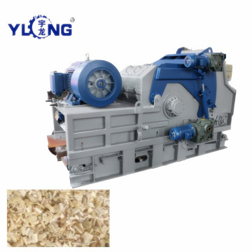 Yulong Equipment Crushing Wood Logs into Chips