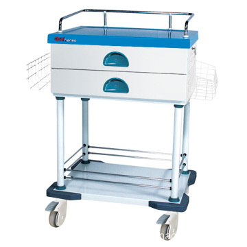 Hospital 2-Layer Detachable Medicine Tray Dispensing Trolley