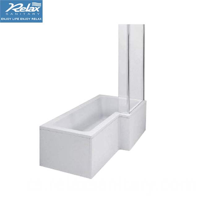 L-Shaped Shower Bathtub