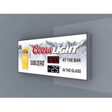 Coorslight light tempreture sign