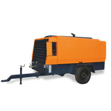 Diesesl Movable Screw Air Compressors for Drilling Machine
