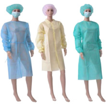 blue  disposable isolation gown