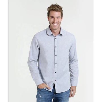 Custom causal 100%cotton plaid mens long sleeve shirts