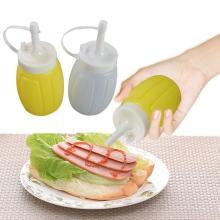Small Size Plastic Sauce Squeeze Bottle Tomato Ketchup Cream Sauce Jam Salad Seasoning Bottle Dispenser Single Color Random