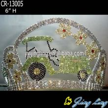 Fashion crown tractor shape flower
