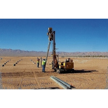 Crawler drilling machine pile driving machine