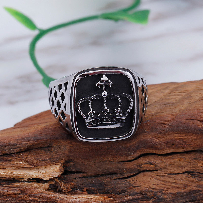 Stainless Steel Crown Ring