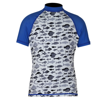 Seaskin Short Sleeves Patterned Rash Guards For Babies