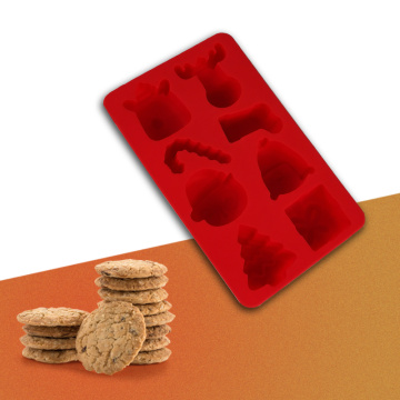 red christmas snowflake silicone mold