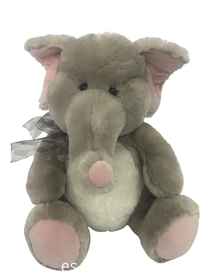 Plush Elephant For Valentine`s Day