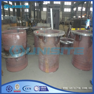 Steel wear resistant loading pipes