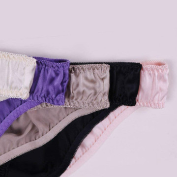Silk Briefs Panties Soft Smooth Healthy Classic Casual
