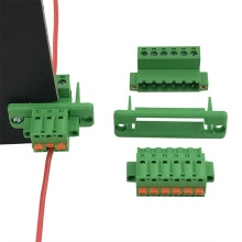 5.08mm through wall or panel plug-in terminal block