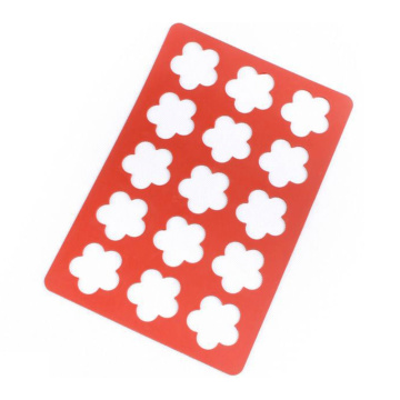 Flower shape Cookies Perforated Silicone Mat
