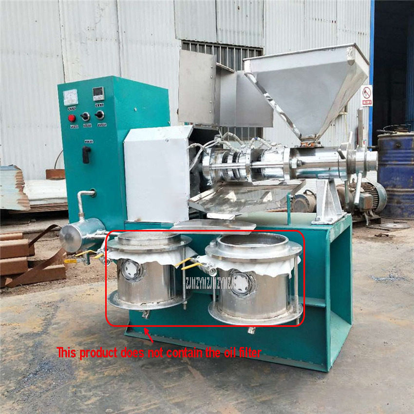 60kg/h Vehicle Electric Small Peanut Sesame Soybean Oil Press Machine Multi-function Automatic Spiral Oil Extraction Presser