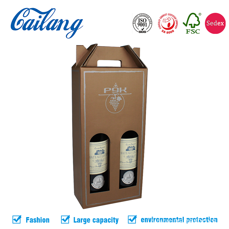 Carrier Wine Gift Box With Handle