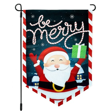 High quality double sided printing Christmas garden flag