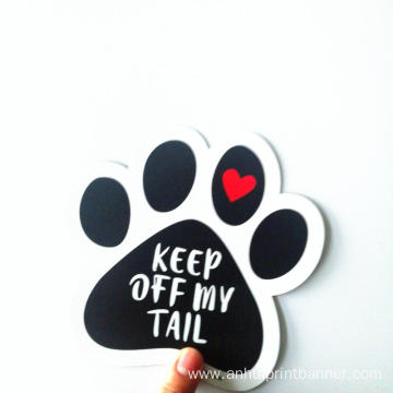 Dog Paw Magnet Bumper Sticker Sign