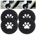 Custom Silicone Anti Slip Paw Car Coasters