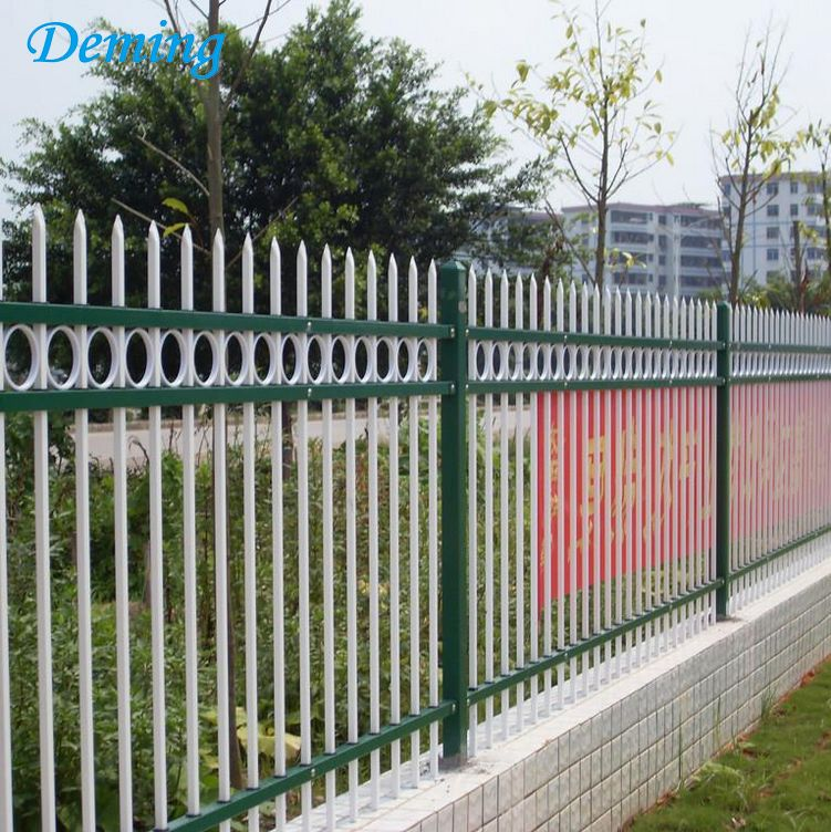 Black powder coated used cheap wrought iron fence
